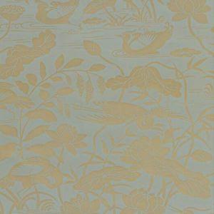 BW45089-5 Heron & Lotus Flower Eucalyptus GP & J Baker Wallpaper