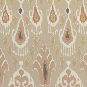 BW45090-1 IKAT BOKHARA Blush GP & J Baker Wallpaper