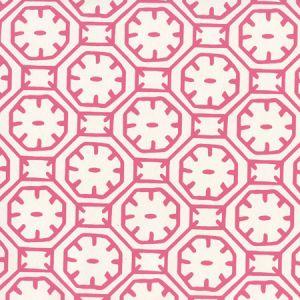 8150WP-06 CEYLON BATIK Magenta On Almost White Quadrille Wallpaper