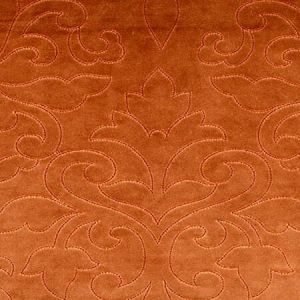 CH 0203 0662 CLASSIC VELVET Pumpkin Scalamandre Fabric
