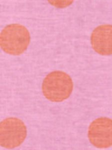 2120-2717 CHARADE Orange Dot on Pink Custom Only Quadrille Fabric
