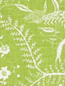 6780-02 CIREBON REVERSE Grass Green on White Quadrille Fabric