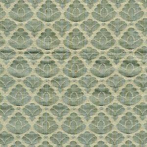 CL 0011 26714A RONDO FR Aquamarine Ivory Scalamandre Fabric