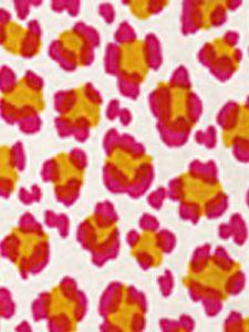 2100-01 CONGA LINE Magenta Ochre on Tint Quadrille Fabric