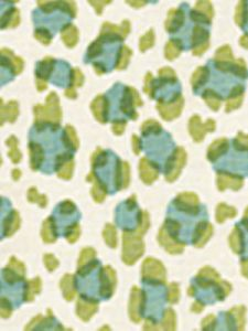 2100-10 CONGA LINE Moss Aqua on Tint Quadrille Fabric