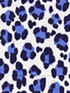 2100-24 CONGA LINE Navy French Blue on White Quadrille Fabric