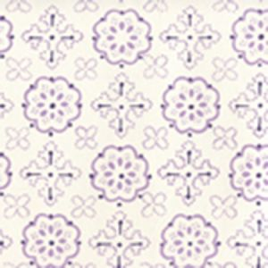 306304W CRAWFORD Multi Purples On Almost White Quadrille Wallpaper