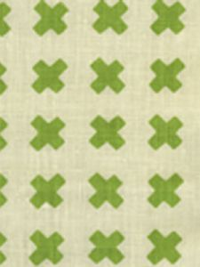 4130-02 CROSS CHECK Jungle Green on Tint Quadrille Fabric