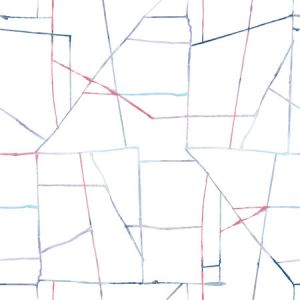 DA62102 Geo Creative Purple, Red, and Blue Seabrook Wallpaper