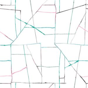 DA62104 Geo Creative Pink, Teal, and Gray Seabrook Wallpaper