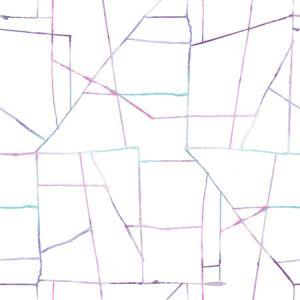 DA62109 Geo Creative Purple, Teal, and Pink Seabrook Wallpaper