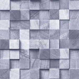 DD138526 Tevye Wood Geometric Blue Brewster Wallpaper