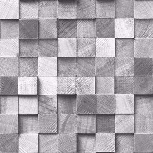 DD138527 Tevye Wood Geometric Grey Brewster Wallpaper