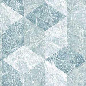 DD347320 Rizzo Geometric Stone Light Blue Brewster Wallpaper