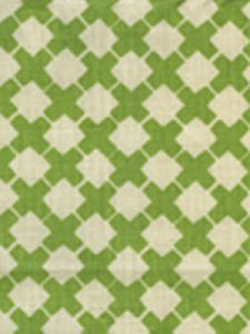 4125-04 DOUBLE CROSS ONE COLOR Jungle Green on Tint Quadrille Fabric