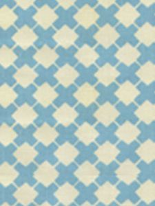 4125-05 DOUBLE CROSS ONE COLOR New Blue on Tint Quadrille Fabric