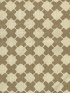 4125-01 DOUBLE CROSS ONE COLOR Taupe on Tint Quadrille Fabric