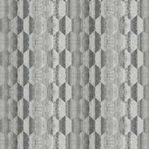 DRUZY GEO Tarnished Silver Fabricut Fabric
