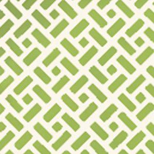 6990WP-12 EDO Bali Green On Almost White Quadrille Wallpaper