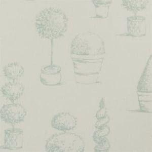 F0430/02 TOPIARY Duckegg Clarke & Clarke Fabric