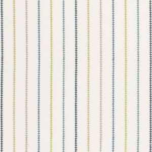 F0665/01 STITCH STRIPE Blue Clarke & Clarke Fabric