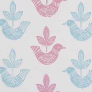 F0668/01 DOVES Pink Clarke & Clarke Fabric