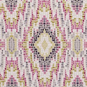 F0691/06 MOSAIC Raspberry Clarke & Clarke Fabric