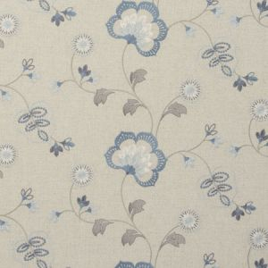 F0735/02 CHATSWORTH Chambray Clarke & Clarke Fabric
