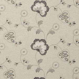 F0735/03 CHATSWORTH Charcoal Clarke & Clarke Fabric
