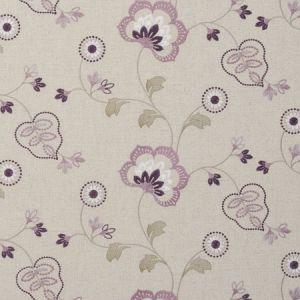 F0735/05 CHATSWORTH Orchid Clarke & Clarke Fabric