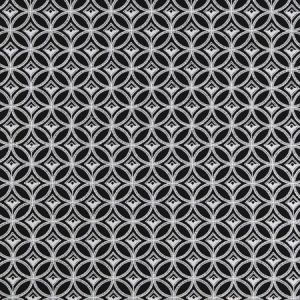 F0881/01 BW1009 Black White Clarke & Clarke Fabric