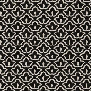 F0887/01 BW1014 Black White Clarke & Clarke Fabric