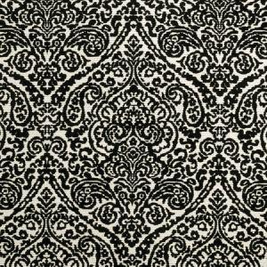 F0896/01 BW1023 Black White Clarke & Clarke Fabric