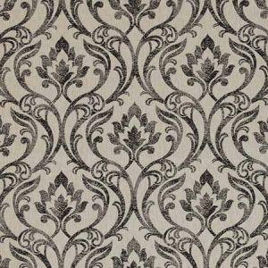 LEYBURN Charcoal Clarke & Clarke Fabric