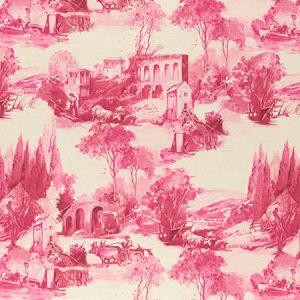 F0997/04 ANASTACIA Raspberry Clarke & Clarke Fabric