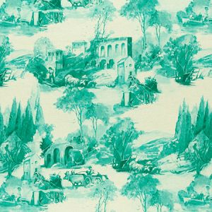 F0997/05 ANASTACIA Teal Clarke & Clarke Fabric