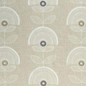 F1015/01 CALISTA Charcoal Linen Clarke & Clarke Fabric