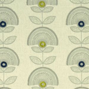 F1015/02 CALISTA Denim Citron Clarke & Clarke Fabric