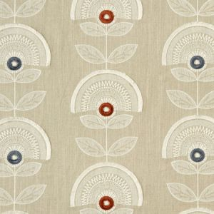 F1015/05 CALISTA Spice Natural Clarke & Clarke Fabric