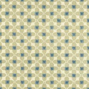 F1016/03 LAVERNE Denim Natural Clarke & Clarke Fabric