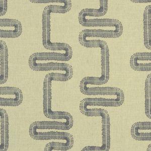 F1017/01 MIKKEL Charcoal Clarke & Clarke Fabric