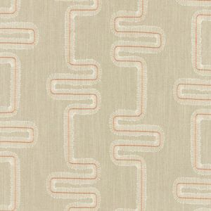 F1017/05 MIKKEL Spice Natural Clarke & Clarke Fabric