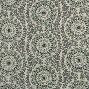 F1019/01 SADIE Charcoal Clarke & Clarke Fabric