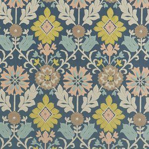 F1022/03 AUGUSTINA Duckegg Blush Clarke & Clarke Fabric