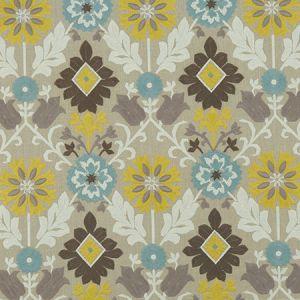 F1022/04 AUGUSTINA Mineral Citron Clarke & Clarke Fabric