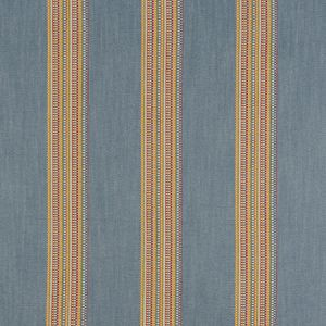 F1023/02 BOHO STRIPE Denim Rouge Clarke & Clarke Fabric