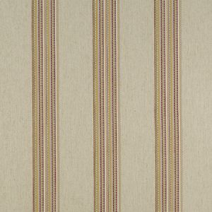 F1023/06 BOHO STRIPE Raspberry Apple Clarke & Clarke Fabric