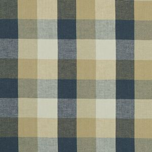 F1042/05 AUSTIN CHECK Midnight Clarke & Clarke Fabric