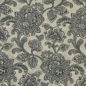 F1044/01 CRANBROOK Charcoal Clarke & Clarke Fabric
