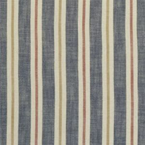 F1046/04 SACKVILLE STRIPE Midnight Spice Clarke & Clarke Fabric